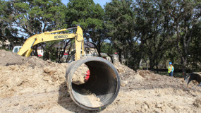 South and central Texas sewer install
